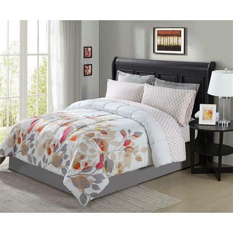 pieces complete bedding set comforter floral flowers