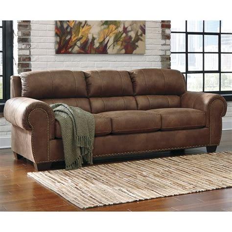 leather sleeper sofa queen ashley burnsville faux leather queen size sleeper sofa in