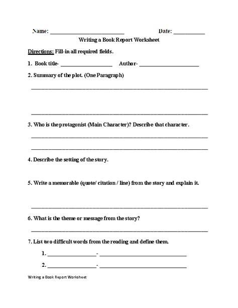 Writing Worksheet 2nd Grade #0 Worksheet