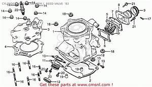 Honda Cr250r Elsinore 1983  D  Usa Cylinder Head