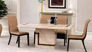 Table A Manger Marbre : 15 splendides tables en marbre pour une salle manger luxueuse bricobistro ~ Teatrodelosmanantiales.com Idées de Décoration
