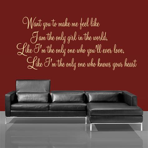 feel  rihanna lyric wall decal