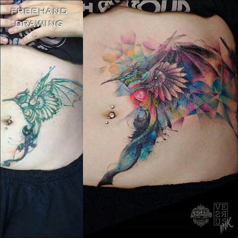 Hummingbird Cover Up Tattoo colorful hummingbird cover up tattoo best tattoo ideas