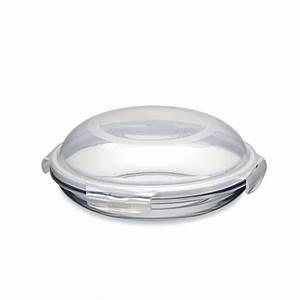 Boite En Verre Avec Couvercle : assiette ronde en verre avec couvercle 21 cm bo tes et ~ Teatrodelosmanantiales.com Idées de Décoration