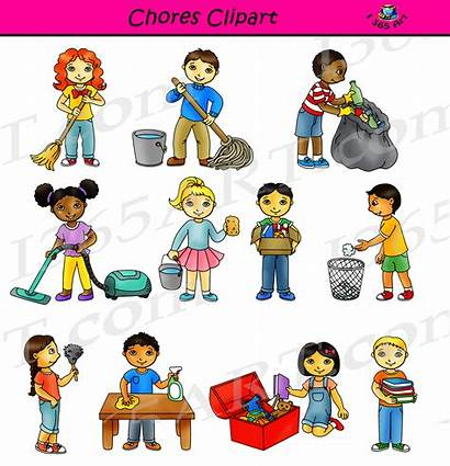 Chores Clipart Cliparts Cleaning Classroom Commercial Clip
