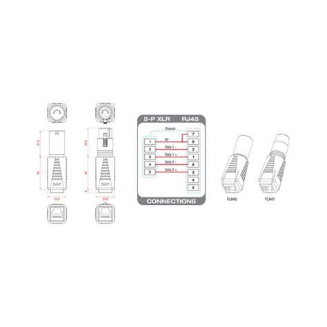 dap audio adaptateur dmx xlr  points male vers rj