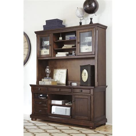 ashley furniture desk with hutch ashley porter home office credenza with hutch in brown