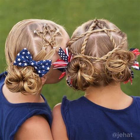 independence day hair styles  hair colors  kids