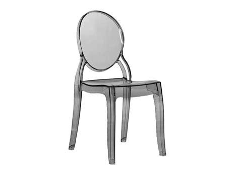 chaise medaillon transparente elizabeth chaise médaillon transparente noir