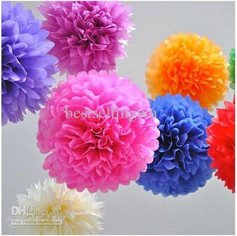 high quality diy colored paper flower ball  wedding