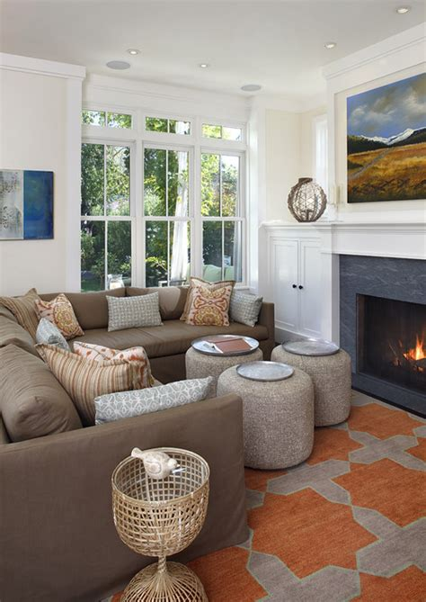 Houzz Living Room Rugs by I The Orange Taupe Rug In The Photo And Where