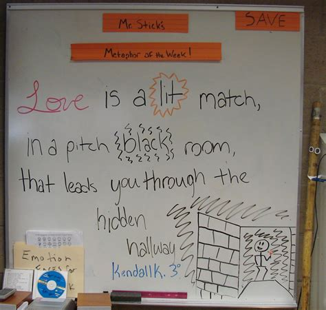 Teach Writing Right Metaphor Of The Week Valentines Day