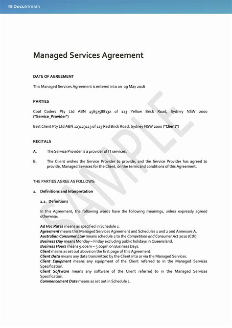 managed service provider contract template managed services provider contract template qualads