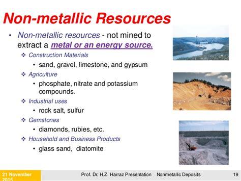 metallic mineral deposits