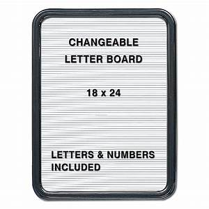 changeable letter board 18quotw x 24quoth black frame with white With black and white letter board