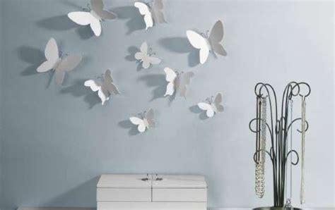 arredare parete da letto farfalle umbra da parete per arredare salotto o da