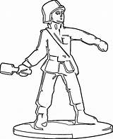 Soldier Coloring Statue Wecoloringpage Pages sketch template