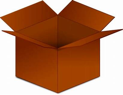 Box Clipart Clip Cardboard Open Cartoon Boxes