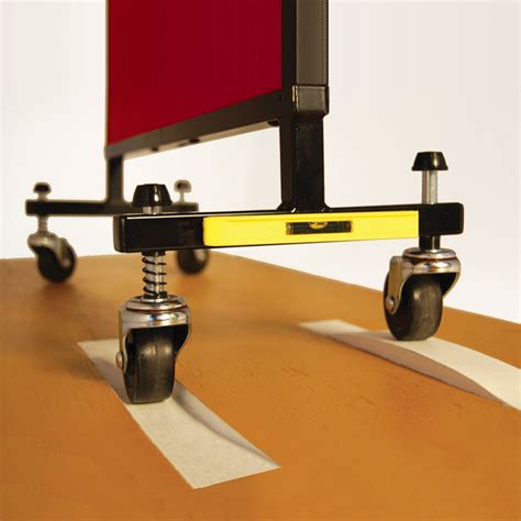 Self-Leveling Casters add Stability on Uneven Floors
