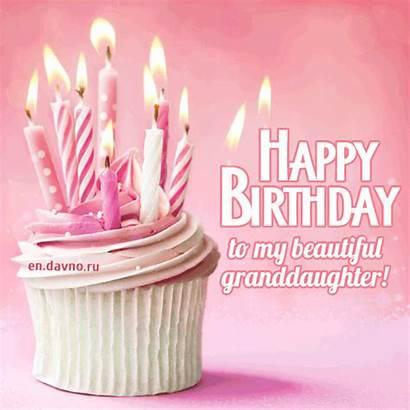 Granddaughter Birthday Happy Wishes Davno Cards Bday