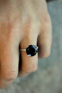 Size 9, Ready to Ship, Black Spinel Precious Gemstone and ...