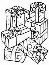Christmas Coloring Box Gift Present Pages Gifts Printable Boxes Getcoloringpages sketch template