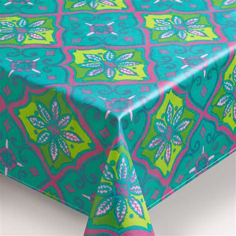 oilcloth tablecloth tile oilcloth tablecloth world market
