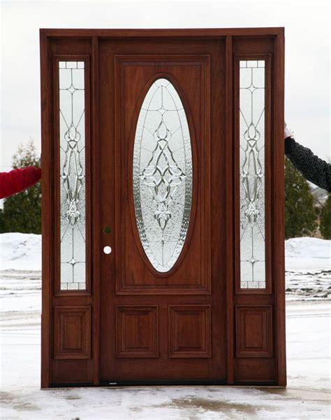 front door  leaded glass oval doors paint