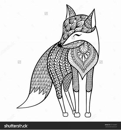 Mandala Coloring Pages Animal Fox Sheets