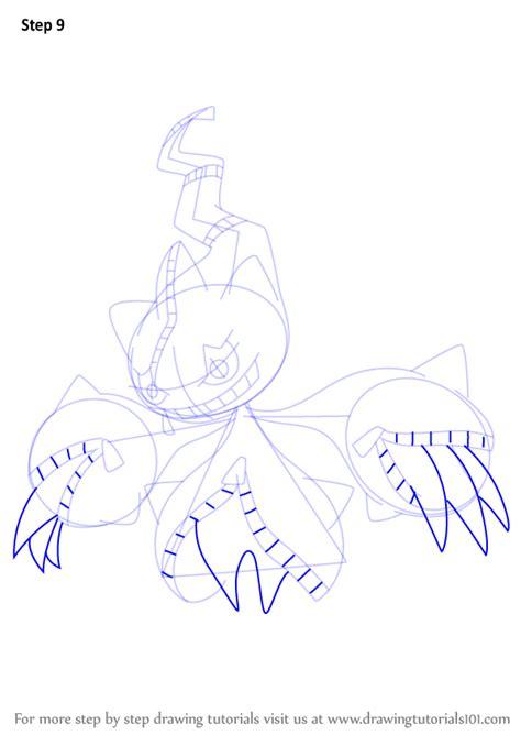 learn   draw mega banette  pokemon pokemon step  step drawing tutorials