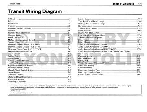 Ford Transit Wiring Diagram Manual Original