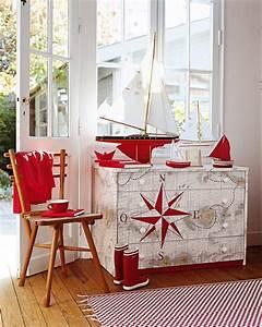 Papier Deco Meuble : un meuble d cor d une carte marine marie claire ~ Teatrodelosmanantiales.com Idées de Décoration