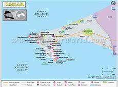 Dakar Map Map of Dakar City, Senegal