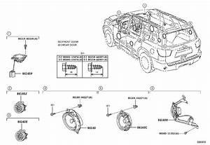 2011 Toyota Sequoia Speaker  Limd  Audio  Electrical