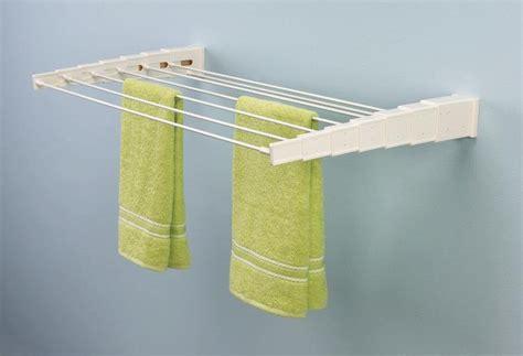 wall mounted laundry drying rack useful wall mounted drying rack homesfeed