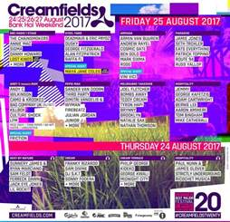 Music Festival Line Up 2017