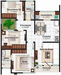 planos de casas pequenas modernas With marvelous maison sweet home 3d 16 plan de maison 60m2 3d