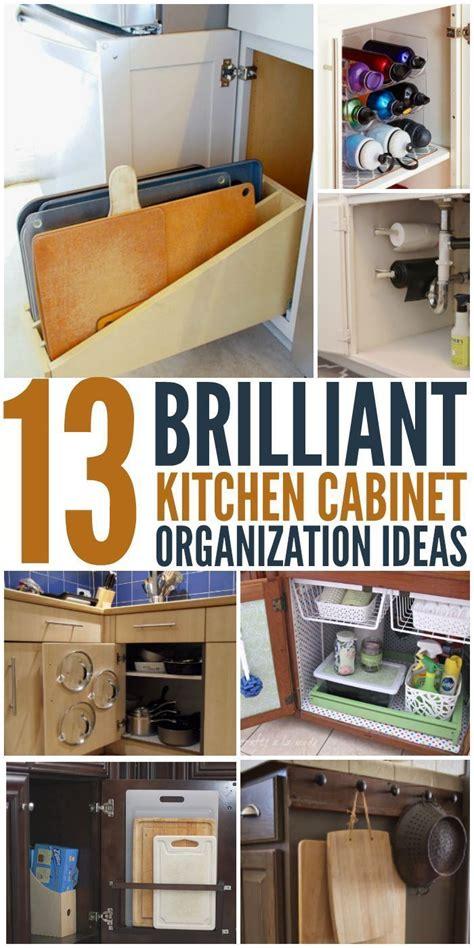 brilliant kitchen cabinet organization ideas kitchen