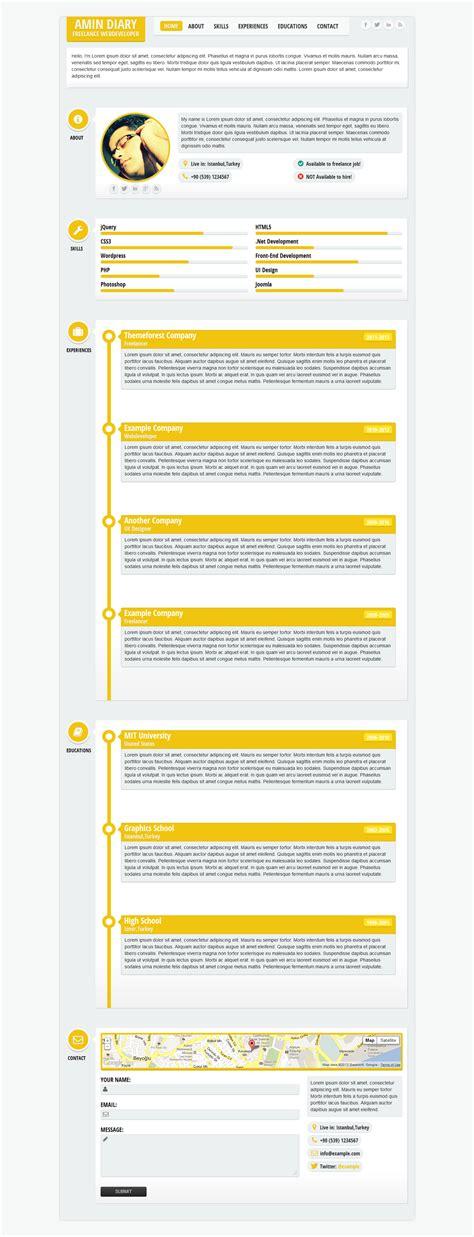 flatty cv responsive resume template by leamino