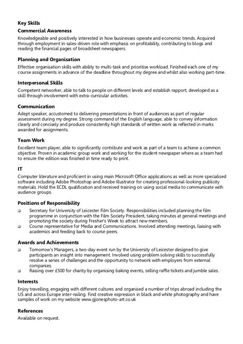 Resume Running Own Business by Exle Chronological Cv