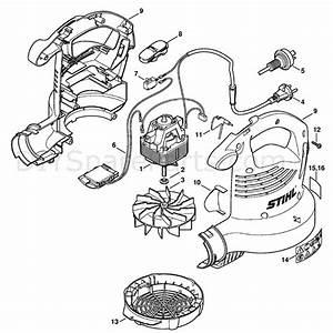 Stihl Electric Blowers  Bge71  Parts Diagram  Bge 71