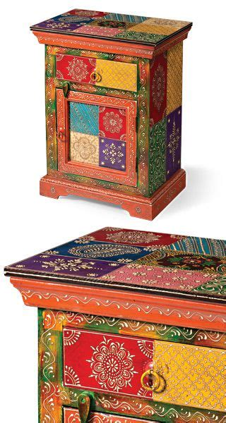 hand painted indian bedside cabinet stuff  dont