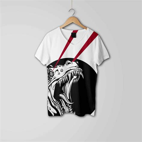 shirt art design set eymockup