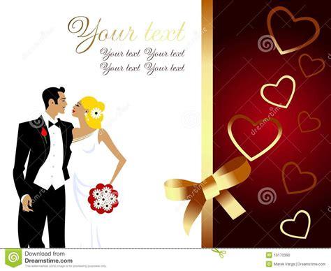 beautiful wedding couple greeting card stock photo image