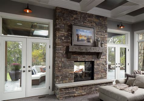 Living Room With Fireplace And Doors by Farmhouse Living Room With Fireplace Painted