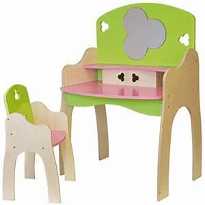 Coiffeuse Bois Enfant : coiffeuse en bois pour poup e avec sa chaise jb bois accessoire de poup e sur planet eveil ~ Teatrodelosmanantiales.com Idées de Décoration