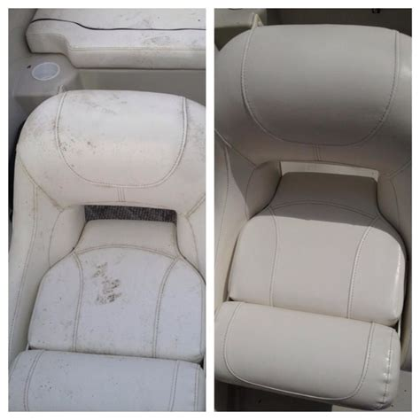 Boat Mildew Prevention by Boat Seats Cleaned With Tilex Couldn T Believe How Well