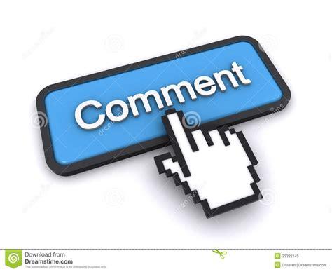Comment Button Stock Illustration. Illustration Of Finger
