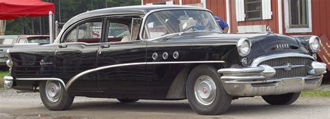 1955 Buick Special 4 Door - Black - Side Angle