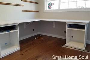 diy l shaped desk one room challenge week 4 small home